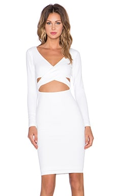 Nookie Bombshell Wrap Dress in White