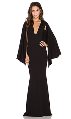Nookie Dahlia Cape Gown in Black