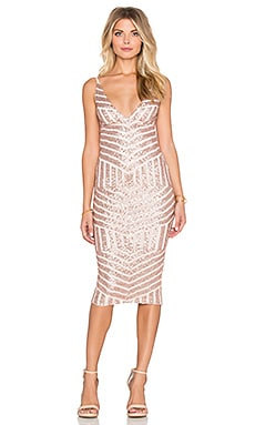 Nookie Starstruck Sequin Slip Dress in Nude Sequin