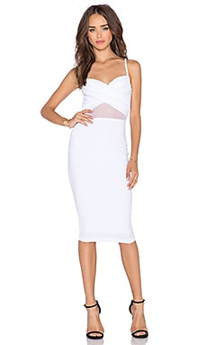 Modern Muse Twist Bustier Dress in White