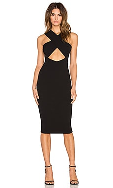 Nookie Boulevard Crossover Dress in Black