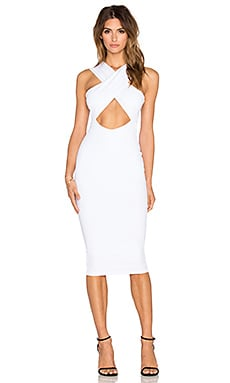 Nookie Boulevard Crossover Dress in White