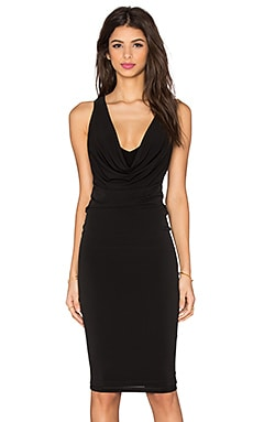 Halle Drape Dress en Noir