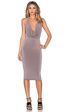 Halle Drape Dress in Mocha