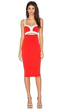 Nookie Tiana Bustier Dress in Cherry & White
