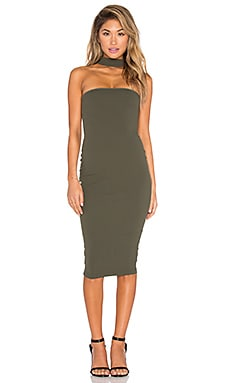 Nookie Cosmopolitan Midi Dress in Olive