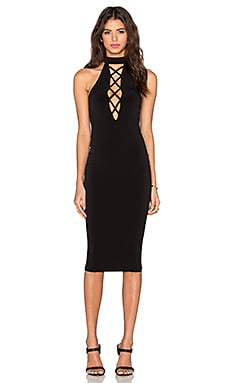 Tropicana High Neck Dress in Black