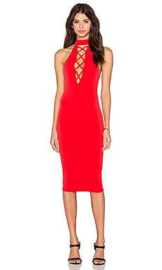Nookie Tropicana High Neck Dress in Cherry