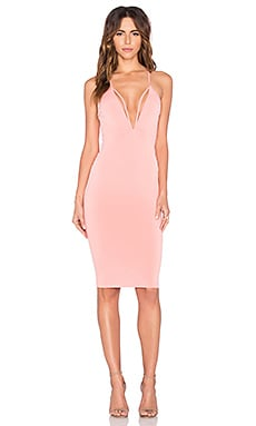 Nookie Paradise Strap Midi Dress in Peachy
