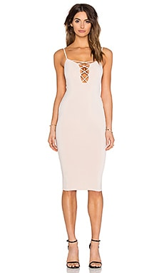 Nookie Tropicana Cross Front Dress in Nude