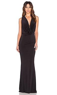 Nookie Eyes Wide Shut Drape Gown in Black