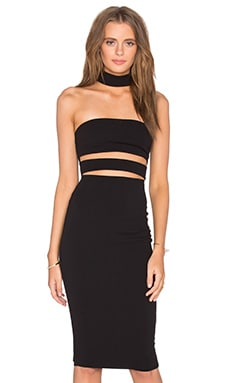 Nookie Frankie Bodycon Dress in Black