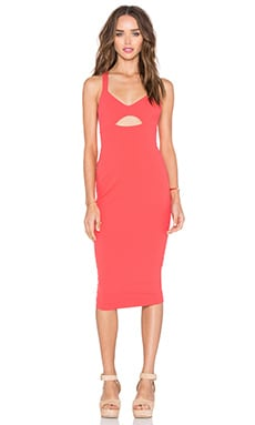 Donna Bodycon Dress in Coral