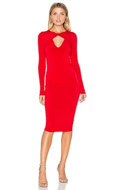Nookie Revolution Long Sleeve Dress in Red