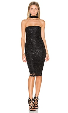 Nookie Stargazer Midi Dress in Black