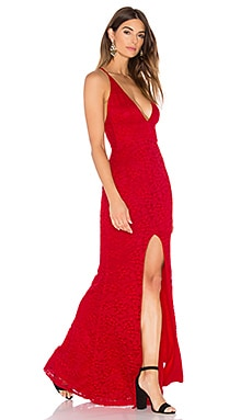 Nookie Rebel Heart Gown in Red