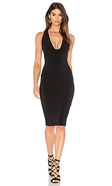 Cherish Midi Dress in Black