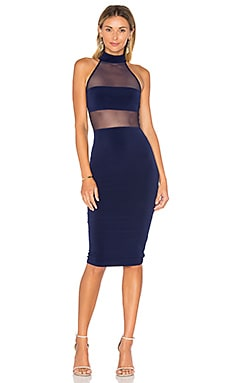 Princess Mesh Midi Dress in Navy