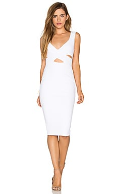Rendezvous Midi Dress in White