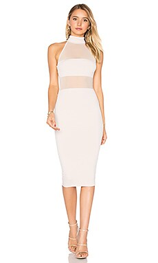 Princess Mesh Midi Dress in Nude
