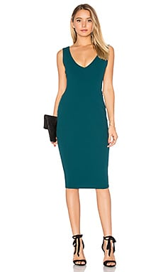 Majesty Midi Dress in Dark Teal