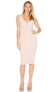 Majesty Midi Dress in Nude