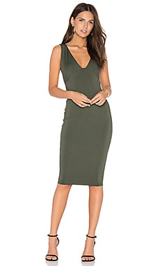 Muse Midi Dress in Olive