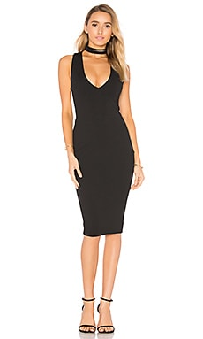 Diva Midi Dress in Black