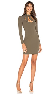 Foxy Tie Dress in Khaki
