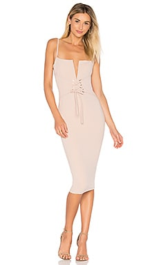 Madison Midi Dress in Sand
