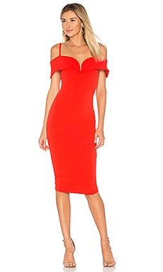 Pretty Woman Midi Dress in Cherry