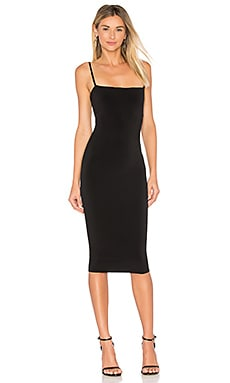 Charlize Midi Dress in Black