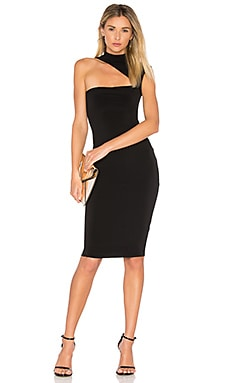 Charlize High Neck Dress in Schwarz