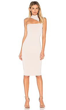 Charlize High Neck Dress in Sand