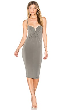 Monroe Twist Midi Dress in Grey