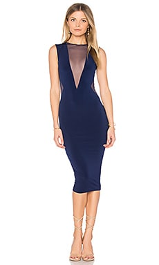 Temptation Midi Dress in Navy
