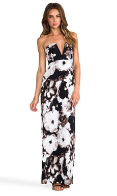 Nookie V-Front Maxi Dress in Dusk til' Dawn