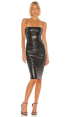 Posse Faux Leather Midi Dress Nookie $269