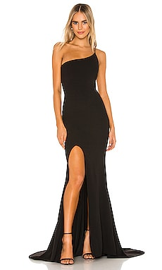 Jasmine One Shoulder Gown Nookie $254
