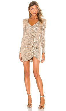 Galaxy Long Sleeve Mini Dress Nookie $339 NEW ARRIVAL