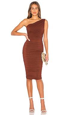 X REVOLVE Inspire One Shoulder Midi Dress Nookie $299 NEW ARRIVAL