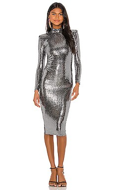 Bellagio Long Sleeve Midi Dress Nookie $269 NEW ARRIVAL