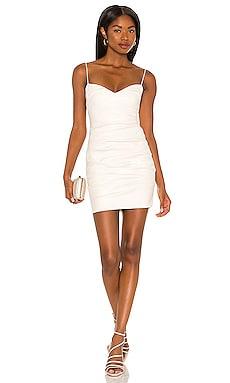 Rhea Faux Leather Mini Dress Nookie $259