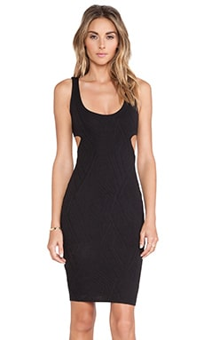 Nookie Uptown Girl Knit Cut Out Dress in Black