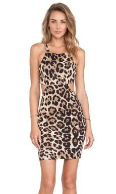 Nookie Beach Wild One Cutout Mini Dress in Leopard