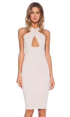 Marylin Convertible Shift Dress in Nude