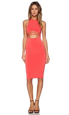 Nookie Mi Amore High Neck Shift Dress in Watermelon