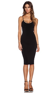 Nookie Mi Amore Backless Shift Dress in Black