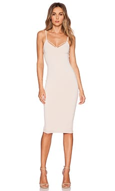 Mi Amore Backless Shift Dress in Nude