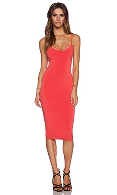 Nookie Mi Amore Backless Shift Dress in Watermelon